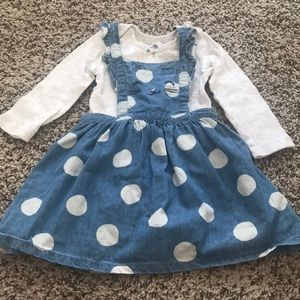 18m babygirl dress with matching shirt